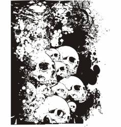 wall of skulls illustration vector image