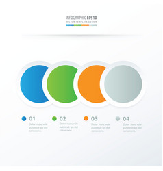 Circle overlap infographic blue green orange vector
