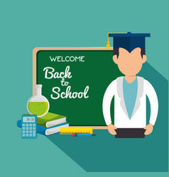 Back to school set supplies vector