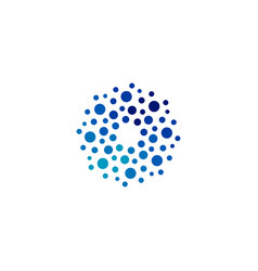 Isolated abstract round shape blue color logo vector