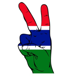 Peace sign of the gambian flag vector