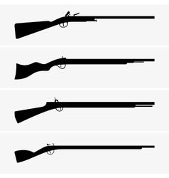 Vintage guns vector image