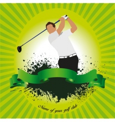 Golf club poster vector