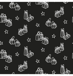 Hand drawn new year and christmas background vector