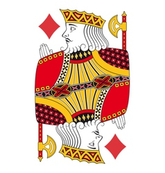 King of diamonds no card vector