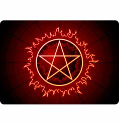 Fire pentagram vector