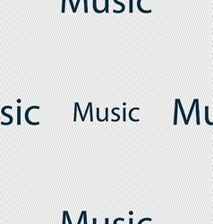 Music sign icon karaoke symbol seamless abstract vector