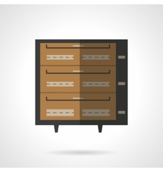 Bakery stove flat color icon vector