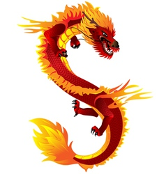Dragon full color vector