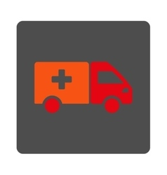 Drugs delivery flat button vector