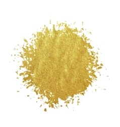Gold stain isolated on white background vector