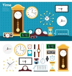 Different clocks in the room vector
