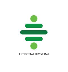 Abstract line dot business logo vector
