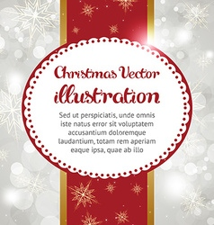 Christmas background with text space vector