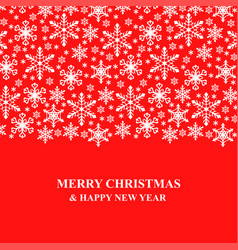 christmas congratulatory card with snowflakes vector image vector image