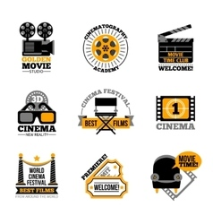 Cinema and film labels vector
