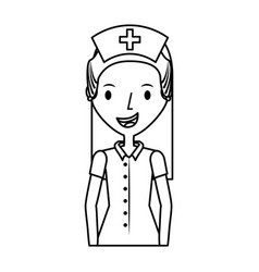 cute nurse avatar character vector image