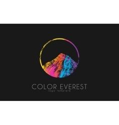 Everest logo color everest mountain logo color vector