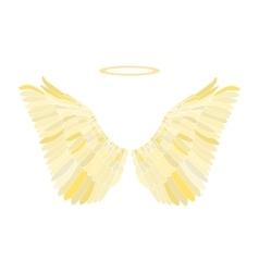 Golden wing vector