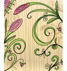 Hand-drawn floral background vector image vector image
