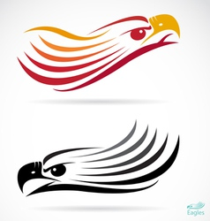 Head of an eagle vector image