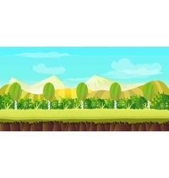 Hills game background vector