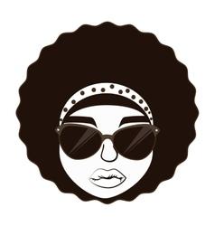 Hippie afro woman vector image