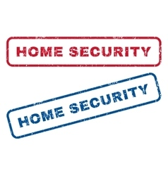 Home security rubber stamps vector