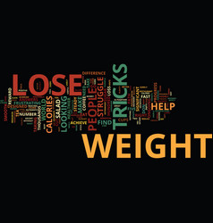 Lose weight tricks text background word cloud vector
