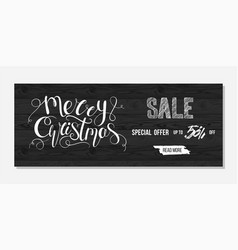 Merry christmas sale advertising vector