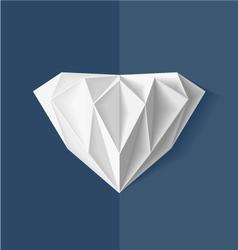 Origami diamond vector