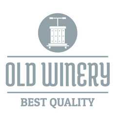 quality old winery logo simple gray style vector image vector image