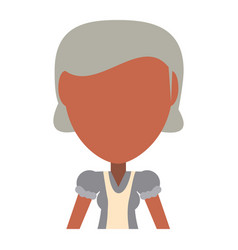 retro old woman cartoon vector image