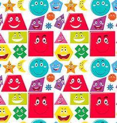 Seamless background with many shapes vector image