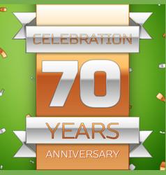 Seventy years anniversary celebration design vector