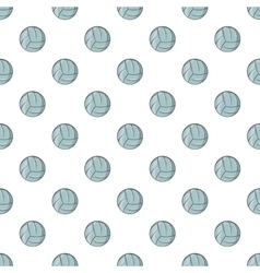 Volleyball pattern cartoon style vector image vector image