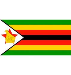 Zimbabwean flag vector image vector image