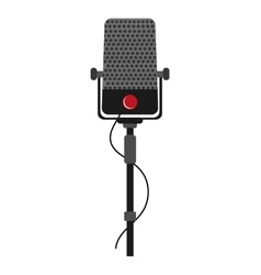 Single microphone icon vector