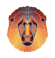 Bright lion portrait zodiac leo sign vector
