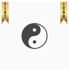 Ying-yang icon of harmony and balance vector image