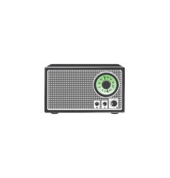 Retro radio detailed elements old retro vintage vector