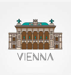 Vienna state opera - the symbol of austria vector