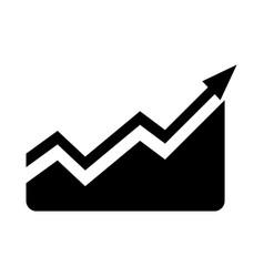 Financial growing statistic vector