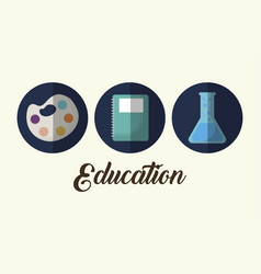 education related icons vector image