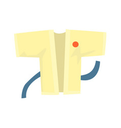 Kimono with a blue belt martial arts clothing vector