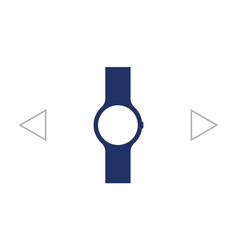 wristwatch icon mens hand watches accessory vector image
