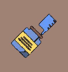 flat shading style icon syringe with medicine vector image