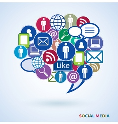 Icons of social media vector