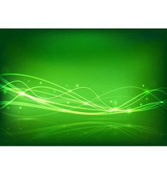 Transparent energy wave - abstract banner vector