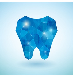 Crystal blue tooth vector